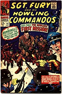SGT. FURY AND HIS HOWLING COMMANDOS #44-NAZI COVER fn marvel comic book