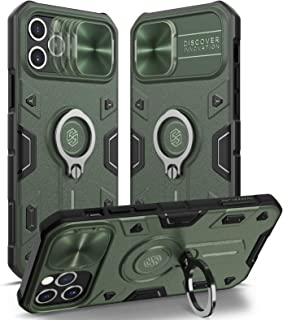 Nillkin Compatible with Case iPhone 12/12 Pro 6.1 inch - Military Grade Case with 360° Kickstand Ring Stand and Slide Came...