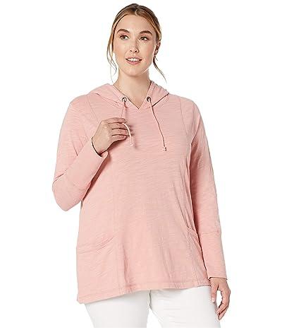 Jag Jeans Plus Size Plus Size Gemma Pullover Hoodie (Coral Blush) Women