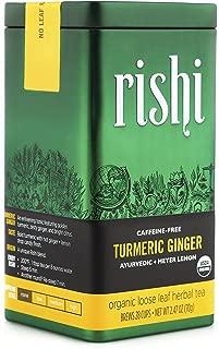 Rishi Tea Organic Caffeine-Free Turmeric Ginger Loose Leaf Herbal Tea, 2.47 Ounce Tin