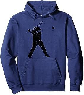 Baseball Player   Silhouette Batter Hitter Fans Gift Pullover Hoodie