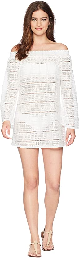 Kenneth Cole - To The Beat Off the Shoulder Elastic Bell Sleeve Dress Cover-Up