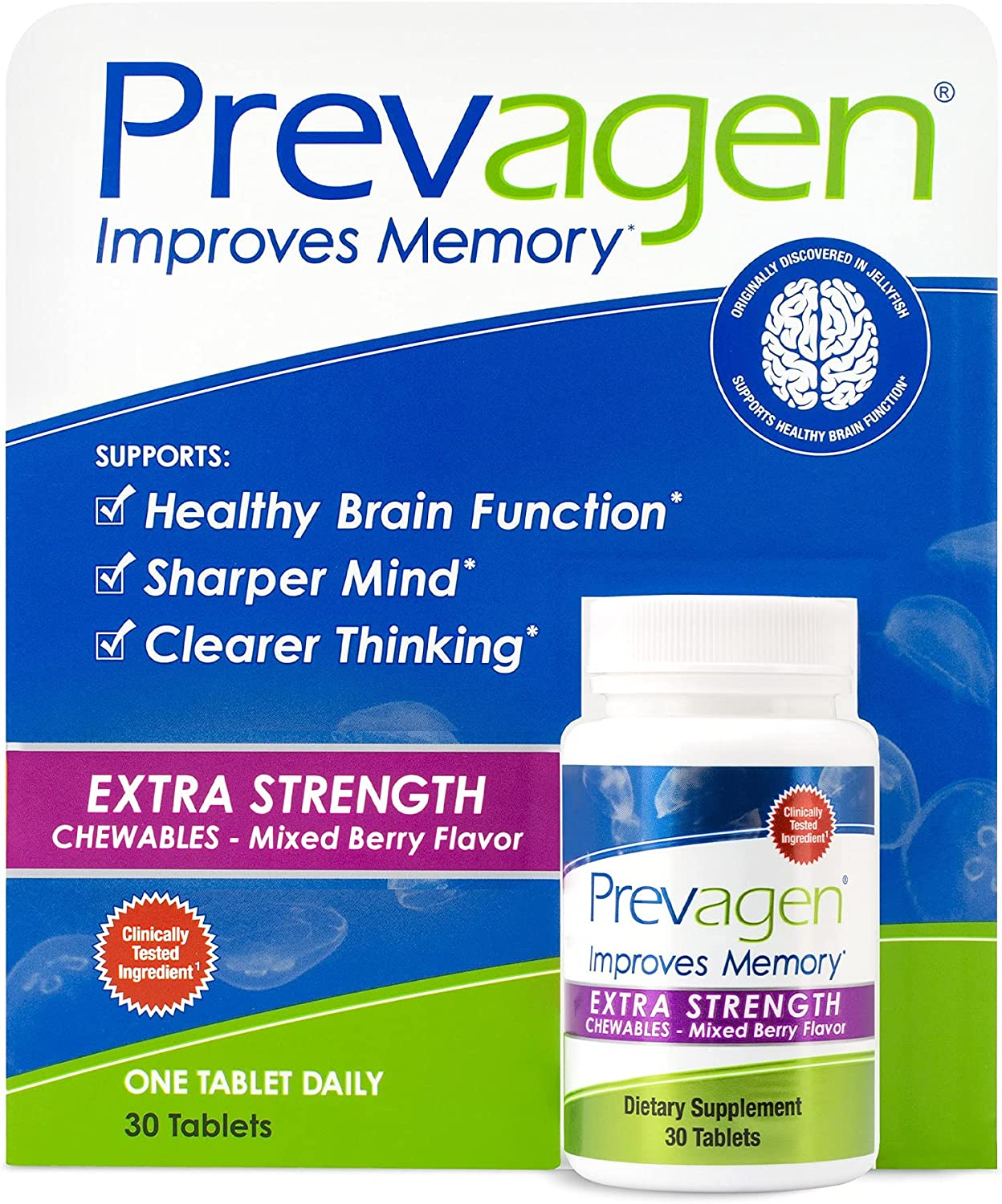 Prevagen Improves Memory Oakland Mall - Extra Chewables Strength Mi 20mg 30 Max 64% OFF