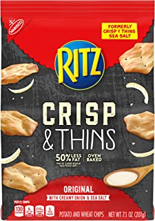 Ritz Crisp & Thins Original with Creamy Onion & Sea Salt Chips 7.1 oz