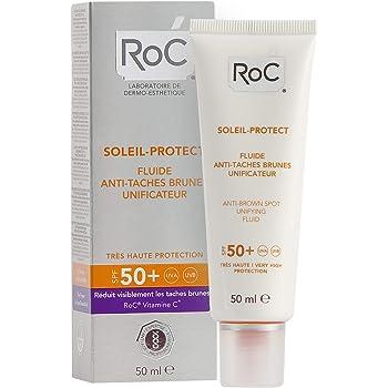 ROC Soleil Protect - Fluido Unificante, Anti-Manchas, SPF50+, 50 ml
