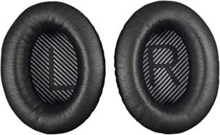 Replacement Ear-Pads Cushions for Bose QuietComfort-35 (QC-35) and QuietComfort-35 II (QC-35 II) Over-Ear Headphones (Black)
