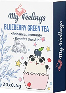 My Feelings, tè verde al mirtillo in polvere, 20 bustine da 12 g
