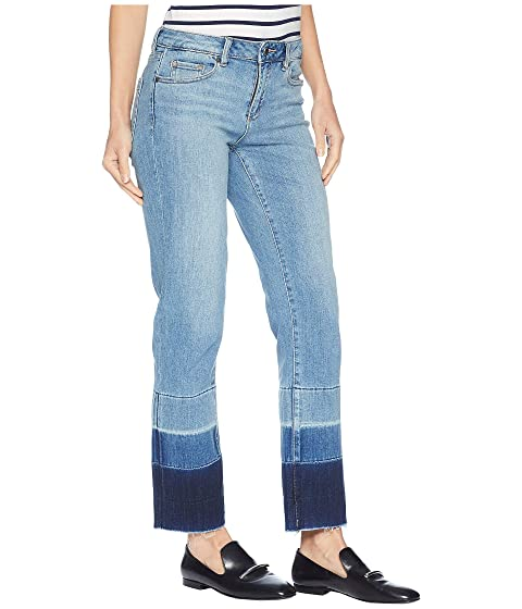 710f3b5f1 TWO by Vince Camuto Light Indigo Color Block Release Hem Crop Jeans ...