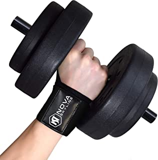20 Inch Wrist Wraps for Weight Lifting, Bodybuilding, CrossFit, Exercise, Powerlifting, Yoga and Strength Training. Professional Grade Wrist Support. Black, Red, Orange, Blue, Gray, Blue Camo.