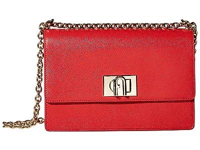Furla 1927 Small Crossbody 24 (Ruby) Handbags