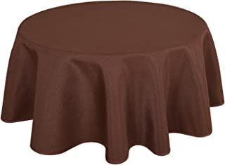 HIGHFLY Linen Round Tablecloth 45 Inch Waterproof Coffee Tablecloth for Talking Table Coffee Bar