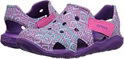 Crocs Kids - Swiftwater Wave Graphic (Toddler/Little Kid)