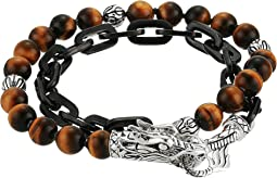 Legends Naga Wrap Bracelet with Tiger Eye