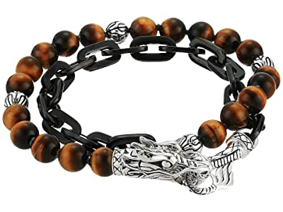 John Hardy Legends Naga Wrap Bracelet with Tiger Eye (Silver) Bracelet