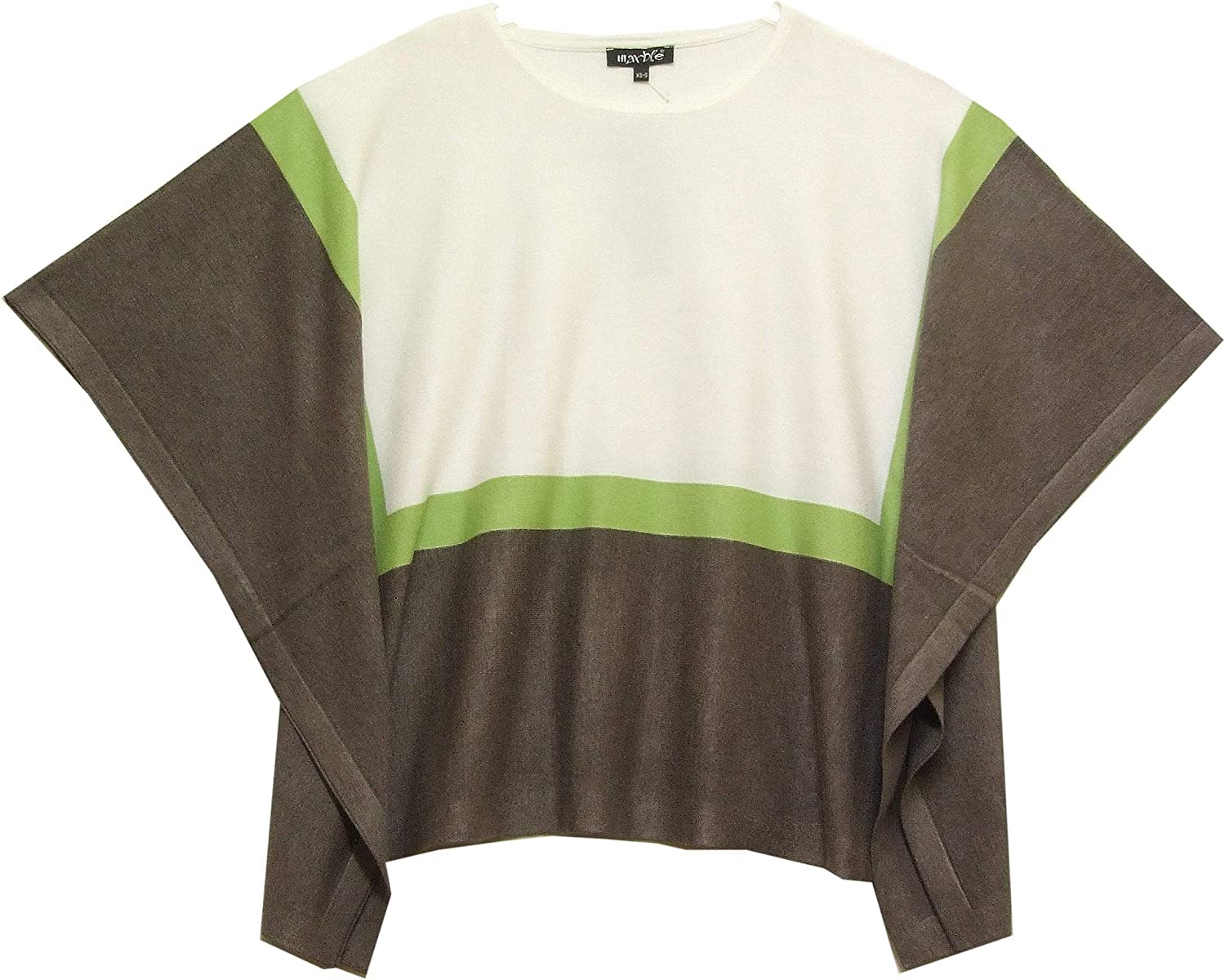 Marble Poncho 5024 Cream with Taupe