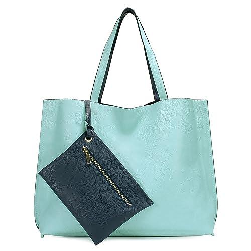 Scarleton Stylish Reversible Tote Handbags Shoulder Bags Hobo bags Satchel  Purses Top Handle Bag for Women a3ea1c28b99