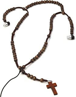 View Quest Necklace Earphones - Wooden Cross