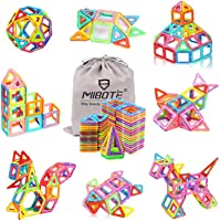 MIBOTE (110 PCS) Magnetic Building Blocks Educational Stacking Blocks Toddler Toys for Preschool Boys Girls Educational...