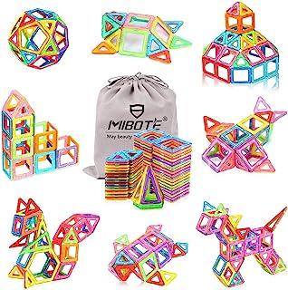 MIBOTE (110 PCS) Magnetic Building Blocks Educational Stacking Blocks Toddler Toys for Preschool Boys Girls Educational an...