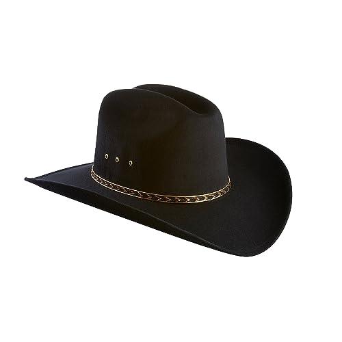a1e74e59eb1 Faux Felt Wide Brim Western Cowboy Hat