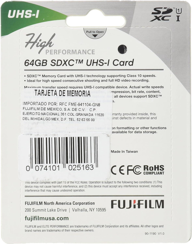 Fujifilm High Performance - Flash Memory Card - 64 GB - SDXC UHS-I (600013604)
