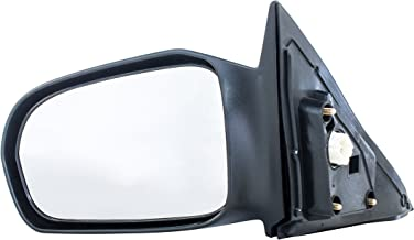 Driver Side Mirror for Honda Civic Coupe (HX, LX)- Fits Coupe Only, Not Sedan (2001 2002 2003 2004 2005) Non-Heated, Power Adjusting, Non-Folding Unpainted Door Mirror - Parts Link #: HO1320138