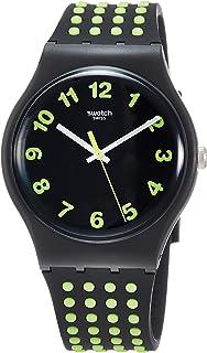 Swatch Originals Punti Gialli Black Dial Silicone Strap Unisex Watch SUOB147