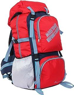 POLESTAR Rocky Polyester 60 Lt Red Rucksack Hiking/Weekend Backpack Bag