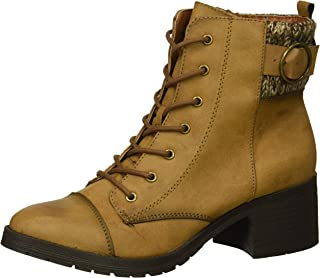 Rampage Women's Krista Lace-up Chunky Heel Combat Boot