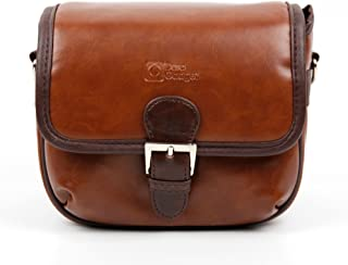 DURAGADGET Small Brown PU Leather Satchel Carry Bag - Suitable for Mustek DV518L