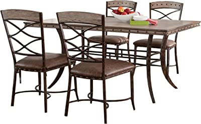 Amazon.com - Tobbi 5-Piece Folding Table and Chairs Set ...
