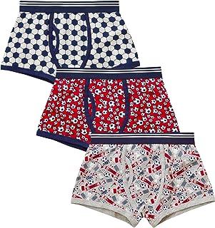 3 Pares Chicos Niños Algodón Trunk Fit Calzoncillos Boxers Ropa Interior Pantalones Cortos 2-13 años