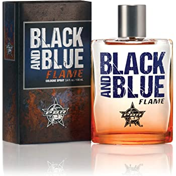 PBR Black and Blue Flame Men's Cologne by Tru Western, Spicy, Masculine, and Sporty Scent - 3.4 oz 100 mL
