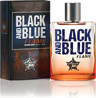 PBR Black and Blue Flame Cologne - Official Professional Bull Riders Fragrance Spray - Natural and Authentic Perfume for Men - Spicy Masculine Scent - 3.4 oz 100 ml