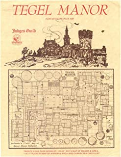 Goodman Games Judges Guild Classic Reprint: Tegel Manor (1E Adventure, W/Maps)