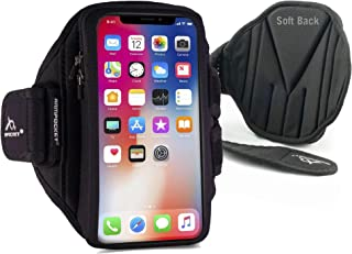 Phone Armbands for Running | Armpocket X Plus Phone Armband | Compatible with 11 Pro Max, Galaxy S21+, S21 Ultra, Note 20 Ultra, Pixel 5, Phones with Cases up to 6.5 Inches | Black Medium Strap