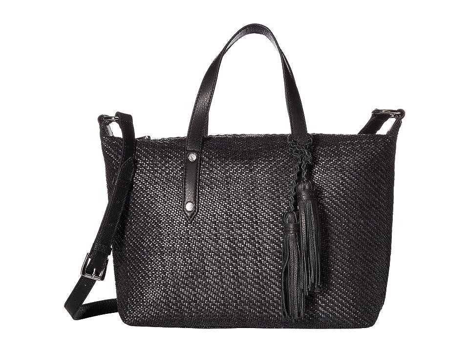 39ebe74e31d2 Tommy Bahama Grenadine Satchel (Black Woven) Satchel Handbags