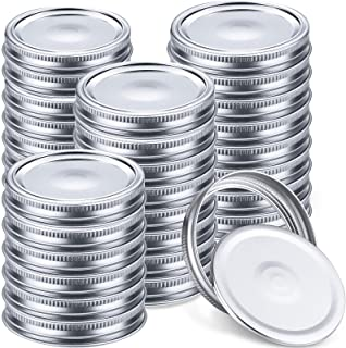80 Pieces Wide Mouth Canning Jar Lids and Bands, Leak Proof Jar Bands and Secure Jar Lids Split-type Jar Canning Lids and ...