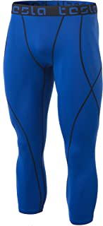TESLA Men's Compression 3/4 Capri Shorts Baselayer Cool Dry Sports Tights MUC18 MUC78