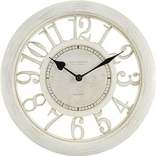 large cream kitchen clock