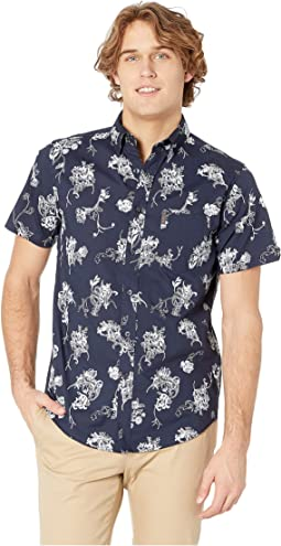 Trop Floral Print Short Sleeve Shirt