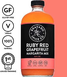 Bravado Spice Ruby Red Grapefruit Margarita Mix 16oz | Gluten Free | Vegan | All Natural | Fresh