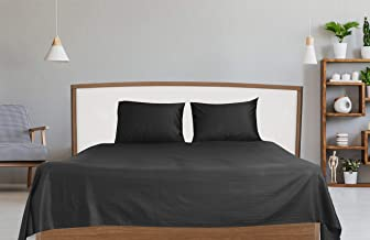 Hotel Linen Box Sateen Black Queen Size 240 x 260 cm Bedding Set - 3 Pieces