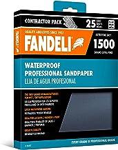 Fandeli 36007 hojas de papel de lija impermeable de grano 1500, 9 x 11 pulgadas, 25 hojas