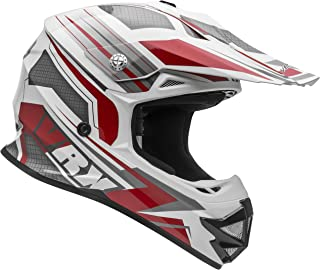 Vega Helmets VRX Advanced Off Road Motocross Dirt Bike Helmet (Red Venom Graphic, Medium)