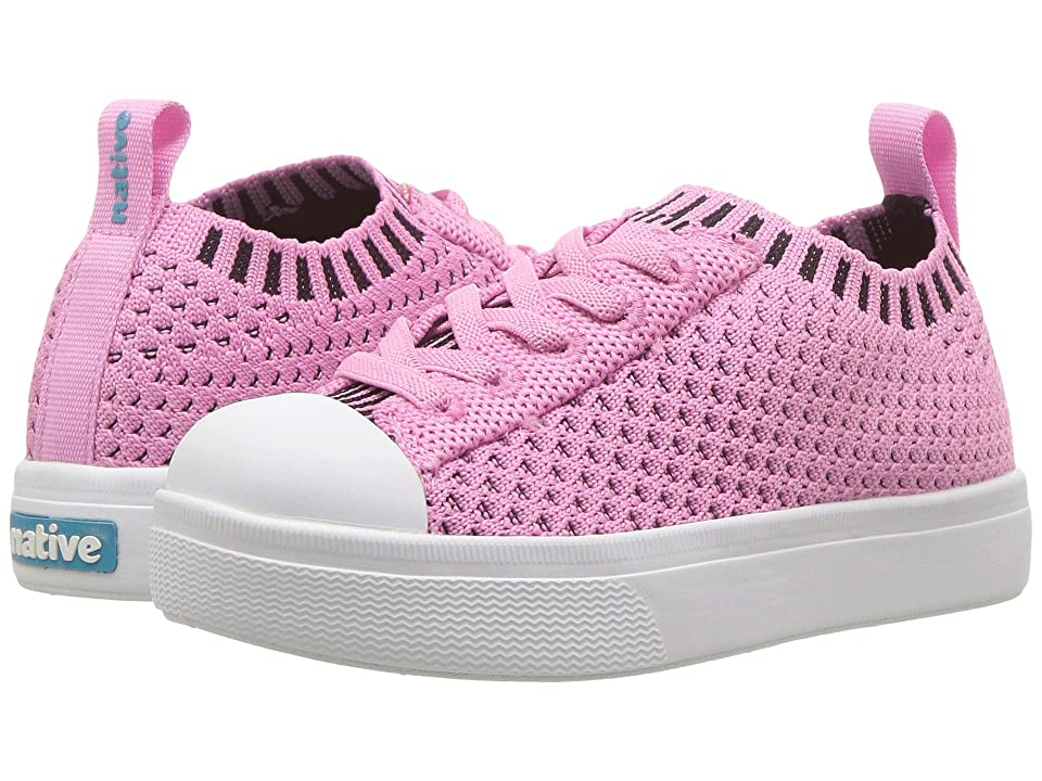 Native Kids Shoes Jefferson 2.0 Liteknit (Toddler/Little Kid) (Malibu Pink/Shell White) Girls Shoes