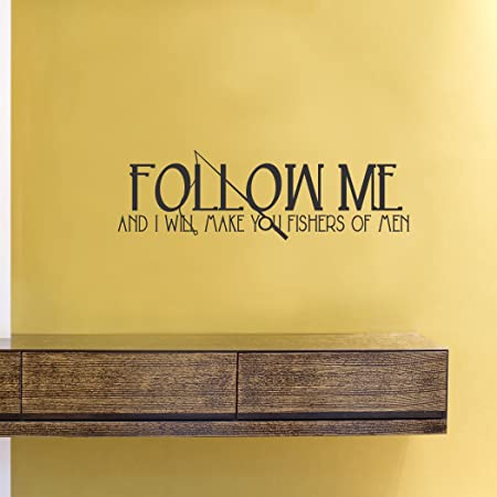 Amazon Com Follow Me And I Will Make You Fishers Of Men Vinyl Wall Decals Quotes Sayings Words Art Decor Lettering Vinyl Wall Art Inspirational Uplifting Baby