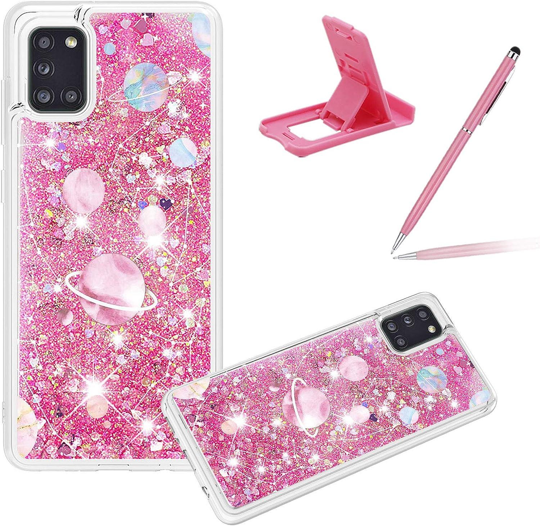 Liquid trust Clear Case for Samsung Galaxy A31 Glitter Girls excellence Women Cov