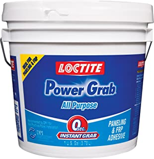 Loctite PowerGrabExpress All‐Purpose Adhesive,1 Gallon Pail, 4- Pack (2082702-4)