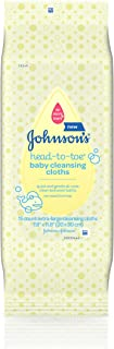 Johnsons Baby Head-To-Toe Cleansing Cloths (3 Pack)
